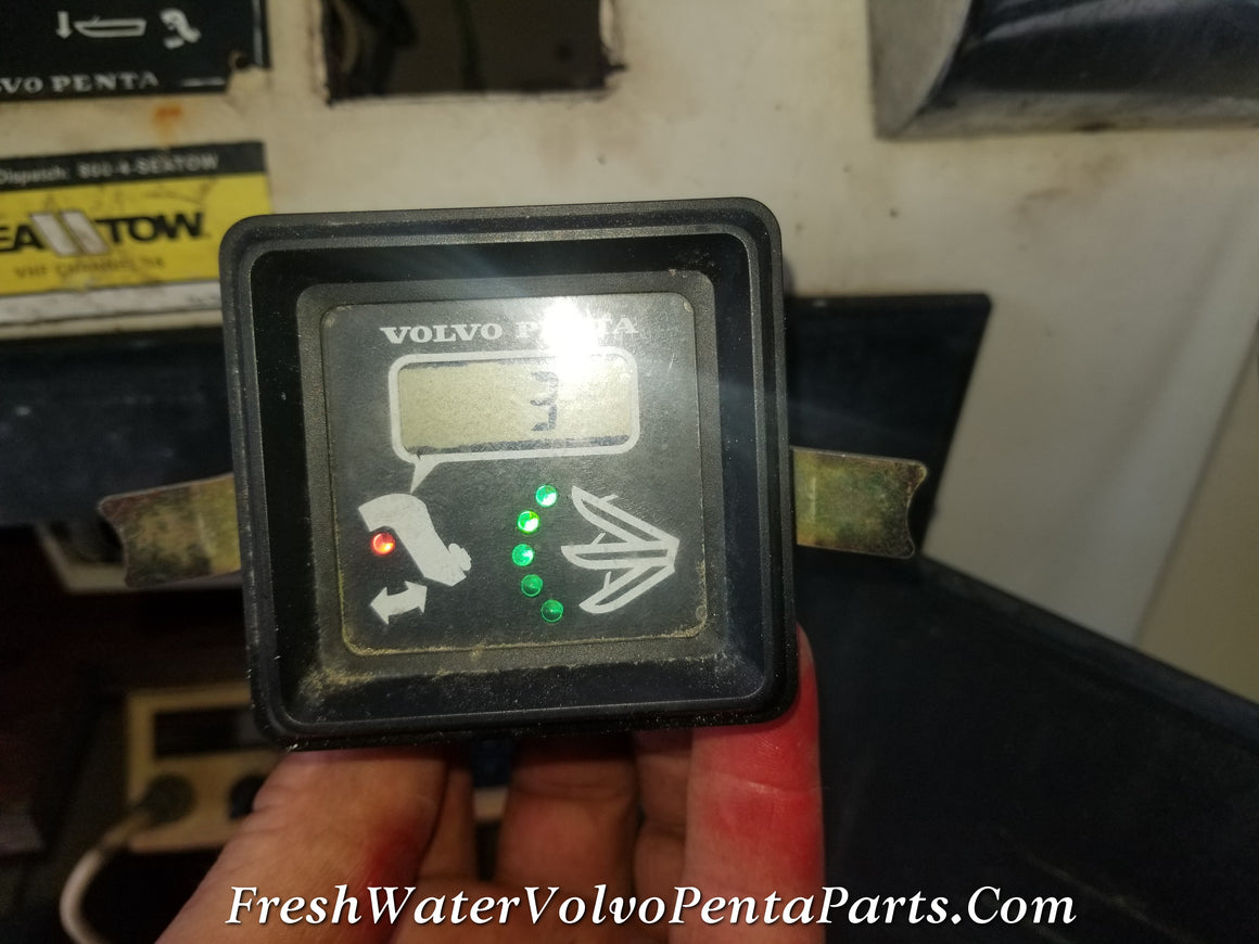 Volvo Penta 290 Dp-A  Square Trim Gauge p/n 828731 100% working condition