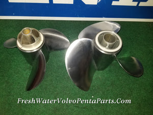 Volvo Penta Dp E2 Propeller set DP-X Drives 3860011 Rear Prop 872442 Forward Prop