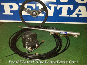 Sea Star Hydraulic steering system Helm Italian Steering wheel Hoses & Cylinder Dp-A