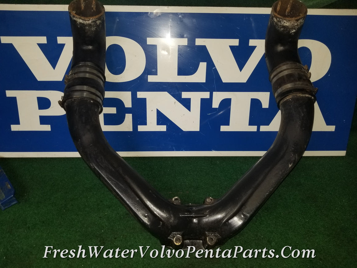 VOLVO PENTA DP-C THRU DP-E V8 V6 Y-PIPE EXHAUST COLLECTOR 854742-1 3851000 3850814