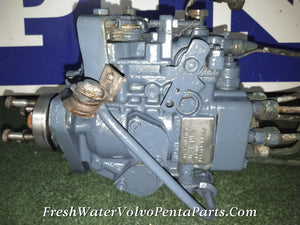 Volvo Penta TAMD40 B Fuel Injection Pump with Fuel lines 867739 ,867756, 867766