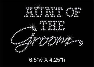 Aunt of the Groom Rhinestone Transfer GetTShirty