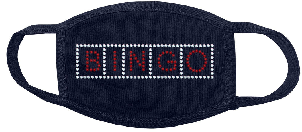 BINGO Rhinestone Face Mask GetTShirty