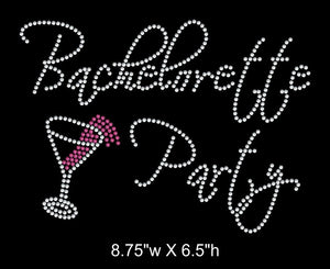 Bachelorette Party Rhinestone Transfer - 2 Color GetTShirty