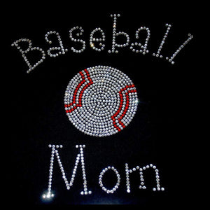 Baseball Mom Rhinestone Transfer (BM04) GetTShirty