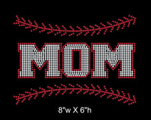 Load image into Gallery viewer, Baseball Mom with Stitching Iron on Rhinestone Transfer (BM02) GetTShirty