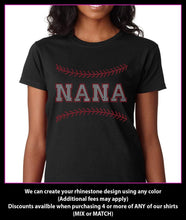 Load image into Gallery viewer, Baseball NANA  / Softball NANA Rhinestone T-shirt GetTShirty