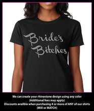 Load image into Gallery viewer, Bride's Bitches / Wedding party Rhinestone T-Shirt GetTShirty