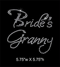Load image into Gallery viewer, Bride's Granny, Iron on  Rhinestone Transfer GetTShirty