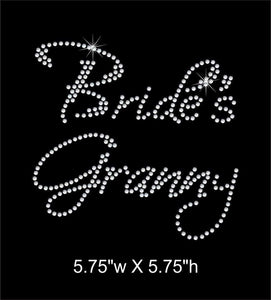 Bride's Granny, Iron on  Rhinestone Transfer GetTShirty