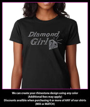 Load image into Gallery viewer, Diamond Girl Rhinestone t-shirt GetTShirty