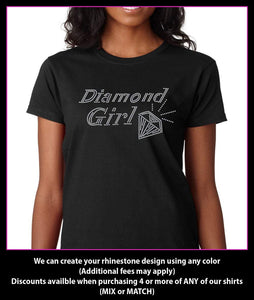 Diamond Girl Rhinestone t-shirt GetTShirty