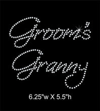 Load image into Gallery viewer, Groom's Granny Rhinestone Transfer GetTShirty