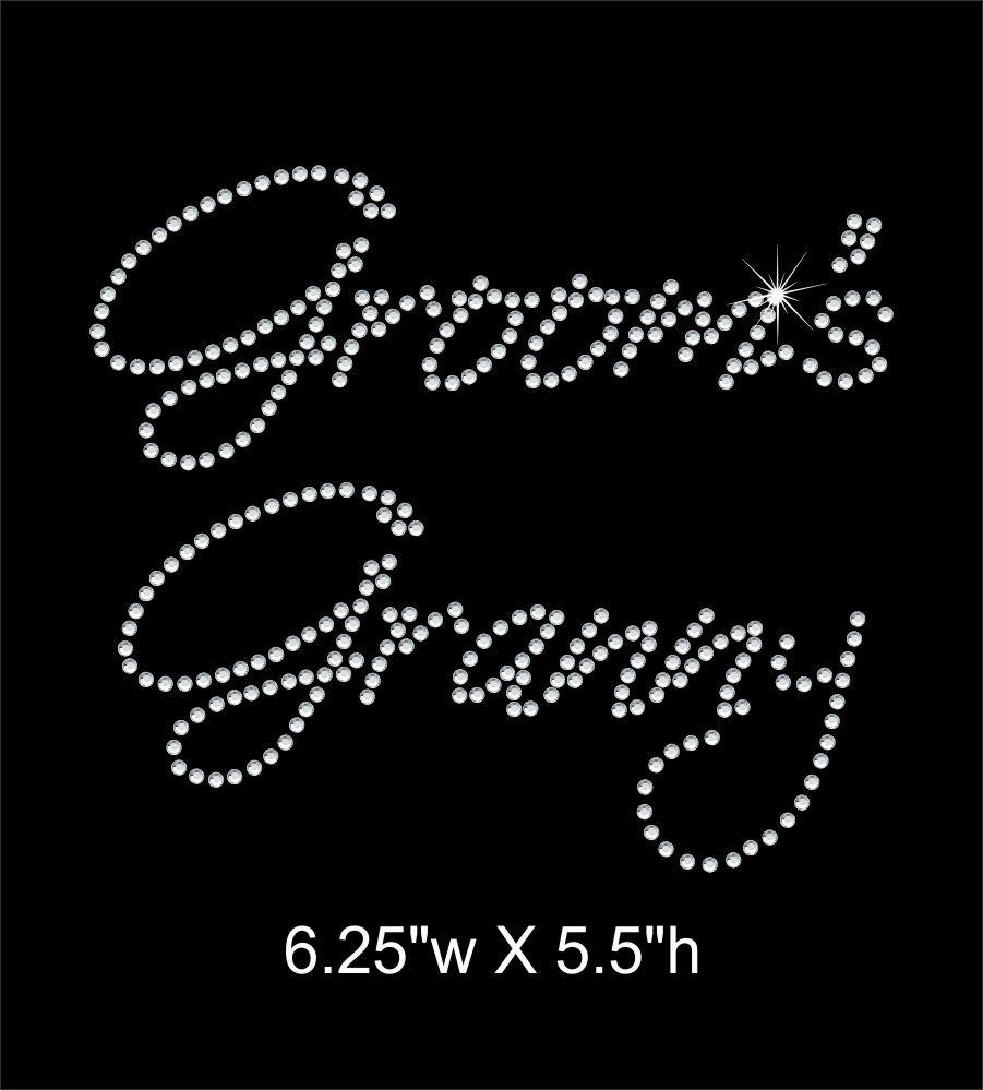 Groom's Granny Rhinestone Transfer GetTShirty