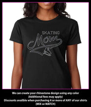 Load image into Gallery viewer, Ice Skating Mom  Rhinestone t-shirt GetTShirty