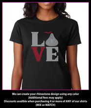 Load image into Gallery viewer, Love Square Chocolate / Hershey Kiss Rhinestone T-shirt GetTShirty