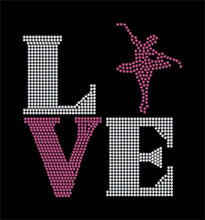 Load image into Gallery viewer, Love Square Dance / Ballet rhinestone transfer bling GetTShirty