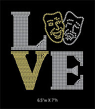 Load image into Gallery viewer, Love Square Drama / Theathre  - 2 color iron on rhinestone transfer GetTShirty