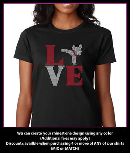 Love Square Karate  Rhinestone T-shirt GetTShirty