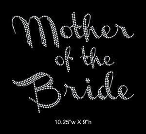 Mother of the Bride, Iron on Rhinestone Transfer GetTShirty