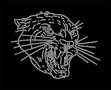 Load image into Gallery viewer, Panther / Tiger  Mascot Rhinestone Transfer BLING - Iron On GetTShirty