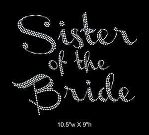 Sister of the Bride, Iron on Rhinestone Transfer gettshirty