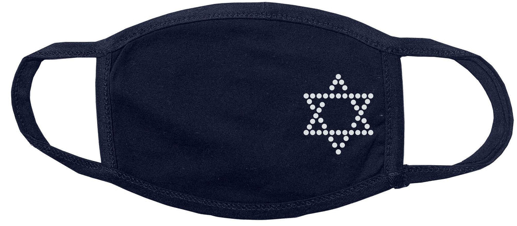 Star of David, Hebrew, Jewish Star Rhinestone Face Mask gettshirty