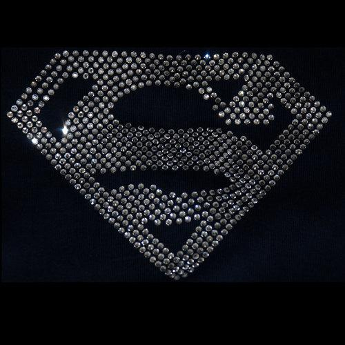 Superman Iron On Rhinestone Transfer GetTShirty