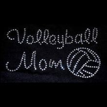 Load image into Gallery viewer, Volleyball Mom Rhinestone Transfer - Iron on GetTShirty