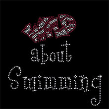 Load image into Gallery viewer, Wild about Swimming Rhinestone Transfer BLING 2-color GetTShirty