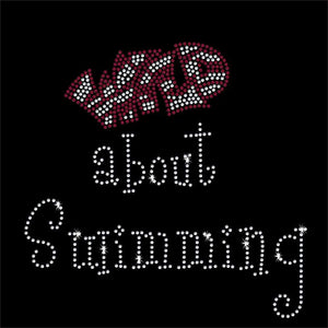 Wild about Swimming Rhinestone Transfer BLING 2-color GetTShirty