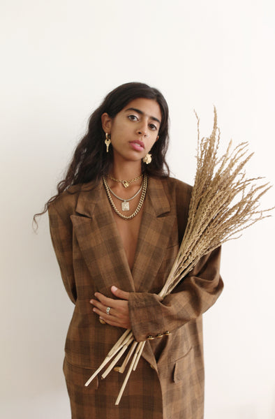 Wheat Free Oversized Blazer
