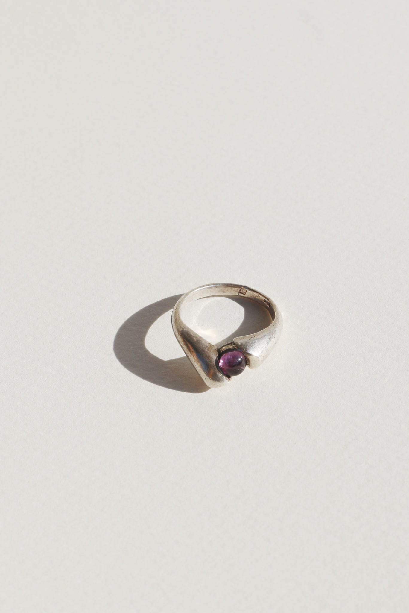 Amethyst Pure Silver Ring