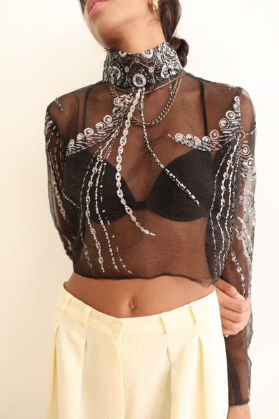 Moon Child embellished Top