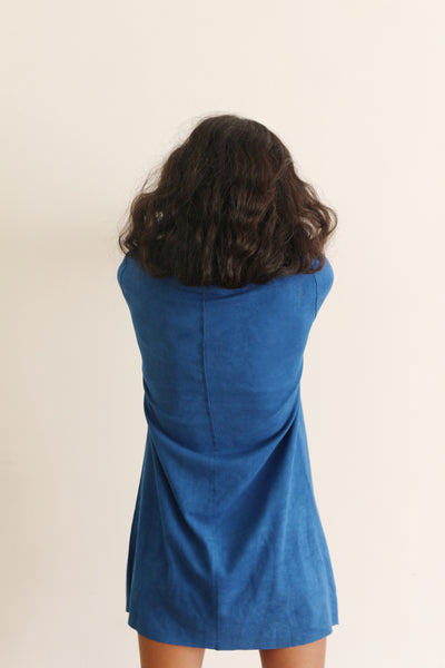 Peacock Suede Dress