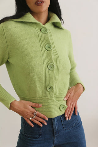Vintage Green Apple Cardigan