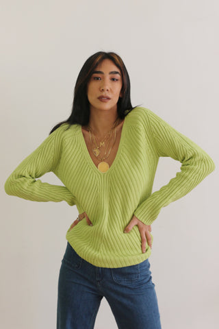 Vintage Lime Squeeze Sweater