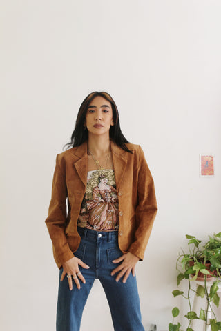 Vintage Tan Suede Jacket
