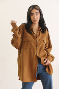Vintage Unisex Brunette Button-Down