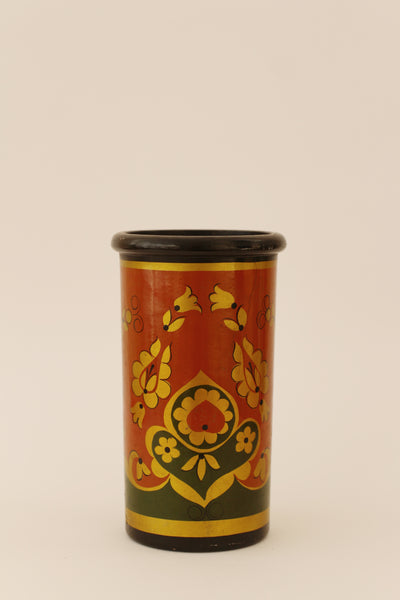Vintage Russian Wooden Hand painted Vase