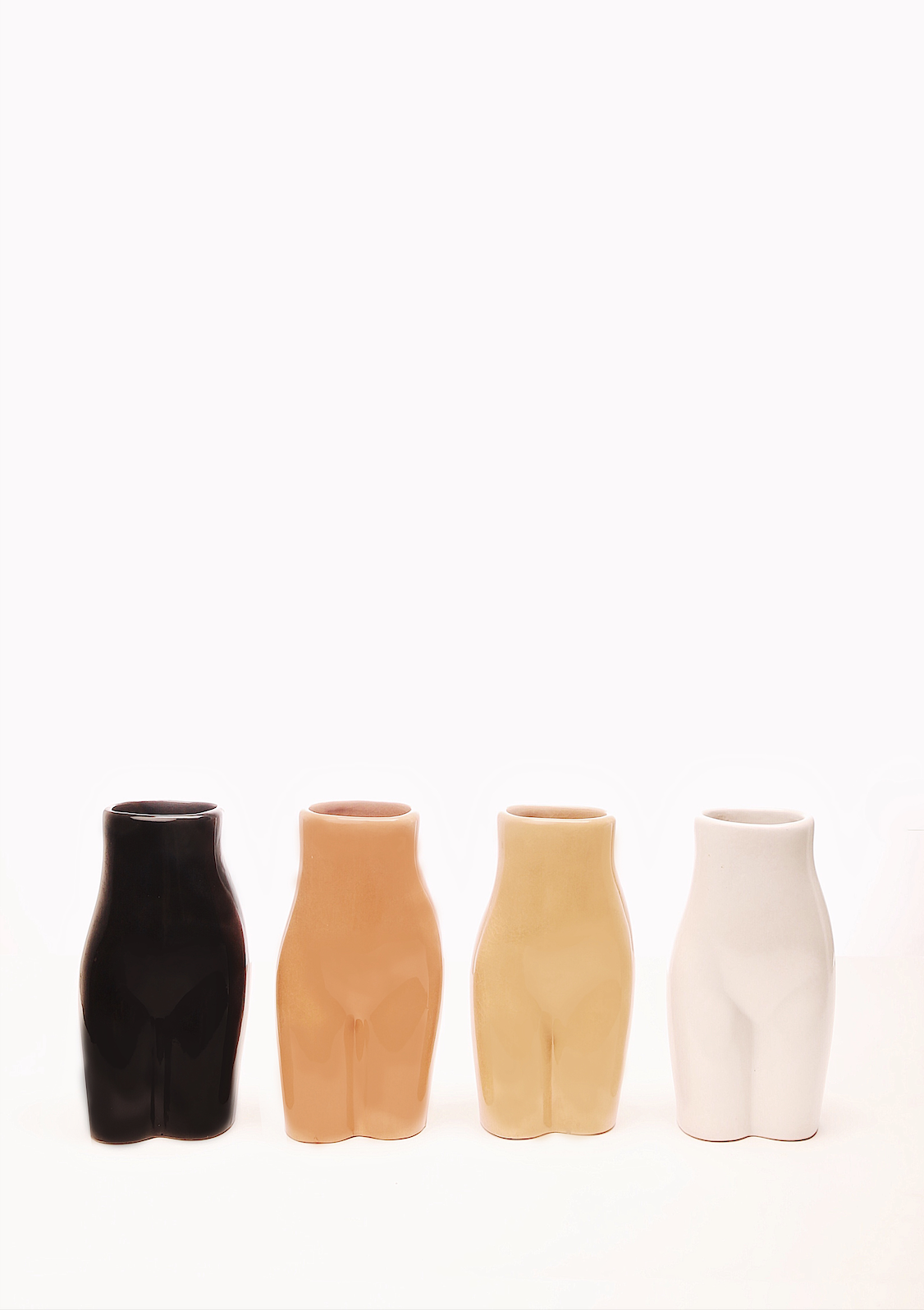 The Sonja Butt Vase in Beige