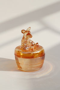 Puppy Glass Trinket Box