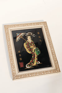 Hand painted Japanese Lady Artwork