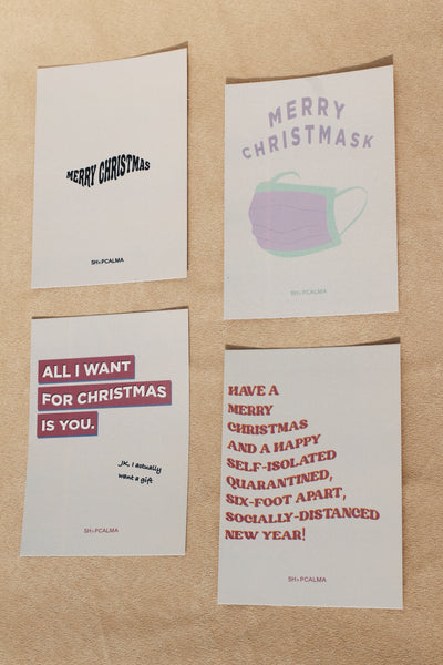 Set Of Four Christmas Cards