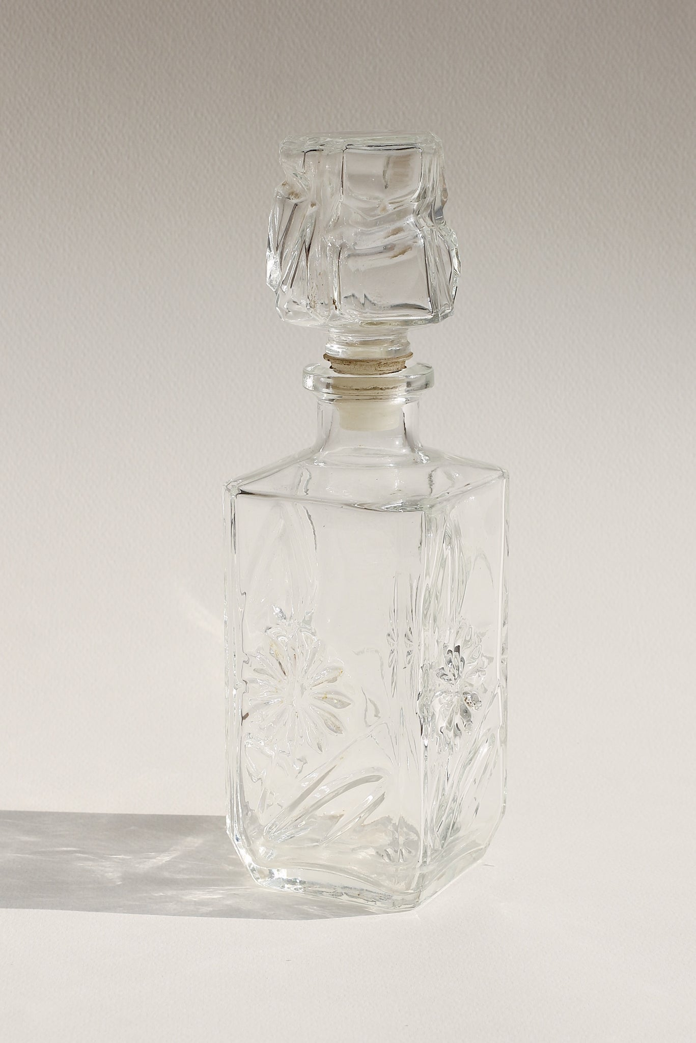 Floral Glass Bottle II