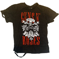 DISTRESSED GUNS ROSES HEAVY METAL BAND SHIRT