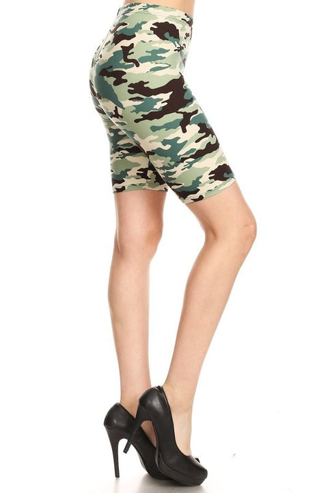 Biker Shorts Light Camo
