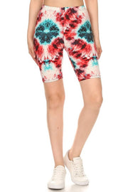 Biker Shorts Tie Dye Red