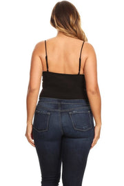 Out on the Town Bodysuit Black Curvy Girl
