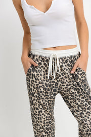 Leopard Light Weight Thermal Joggers